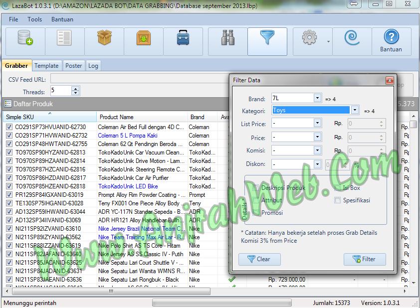 tutorial penggunaan lazadabot lazabot sofware plugin affiliasi lazada