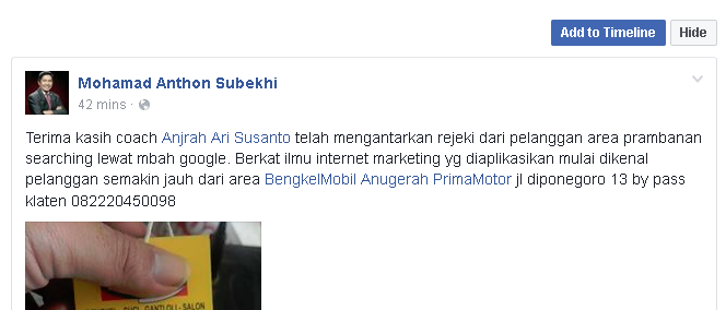 Sharing Cara Memasarkan Bengkel Mobil Motor dengan Internet Marketing Online