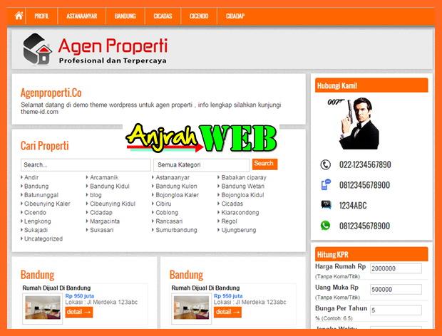 DOwnload Theme Agen Properti Theme Id Theme Bagus untuk Web Properti Online